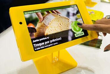 tablet com programa de fidelidade