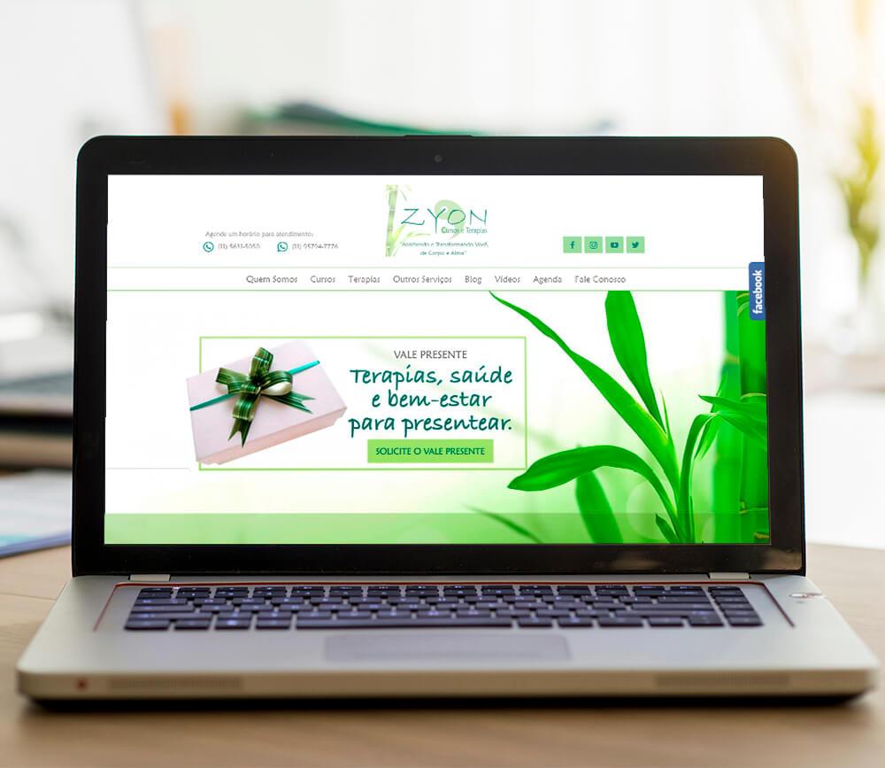 Projeto Web Zyon Cursos e Terapias