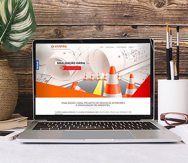 Website Sinurbe Projetos de Arquitetura e Sinalização