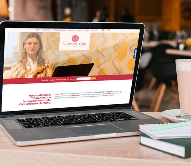 Website Viviane Gilg Fonoaudióloga