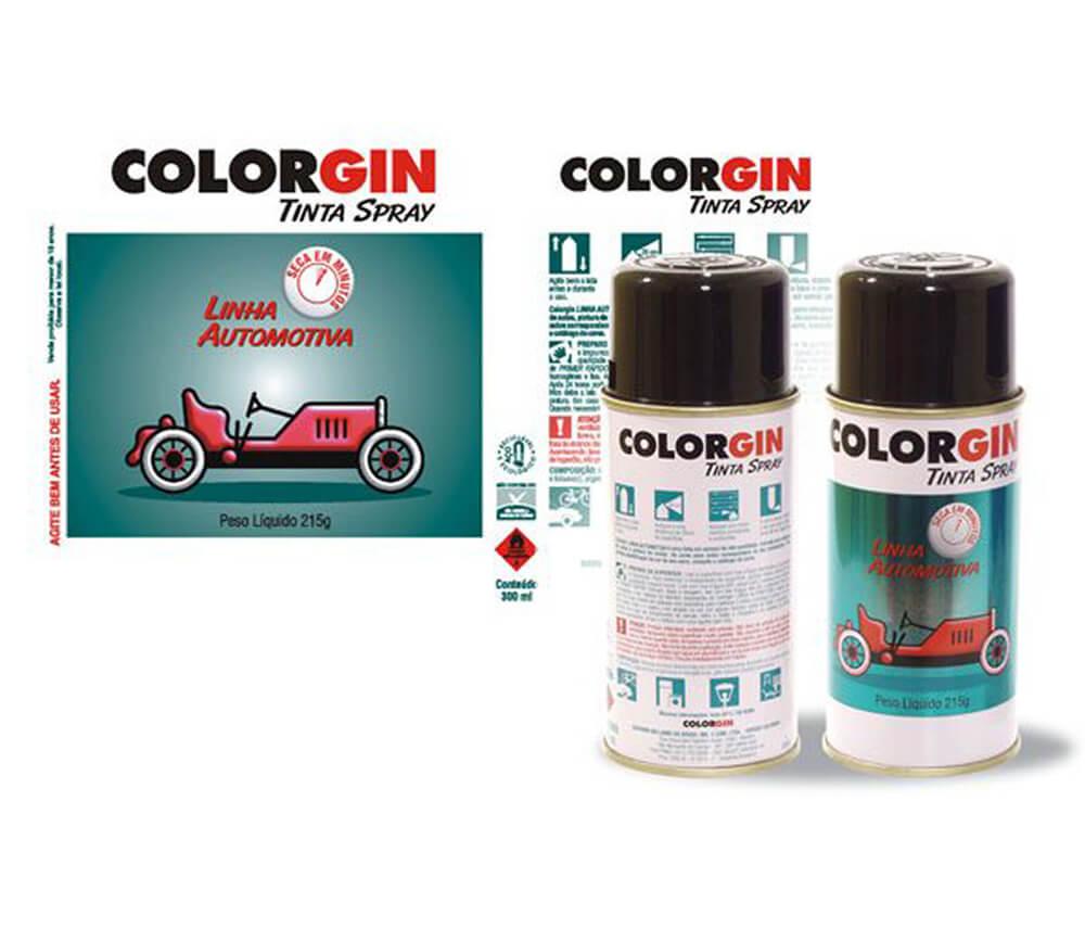 Projeto Gráfico Colorgin Tinta Spray Automotiva
