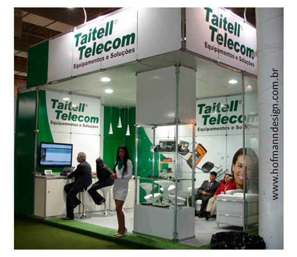 Projeto Gráfico Estande Taitell Telecom