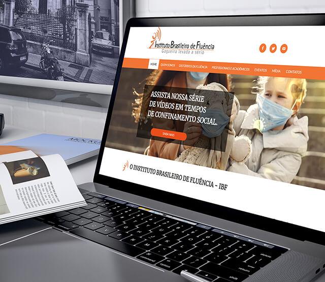 Website Gagueira - Instituto Brasileiro de Fluência - IBF