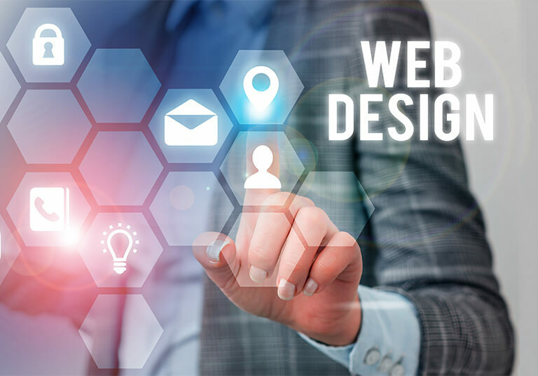 Conceito de webdesign e criação de sites
